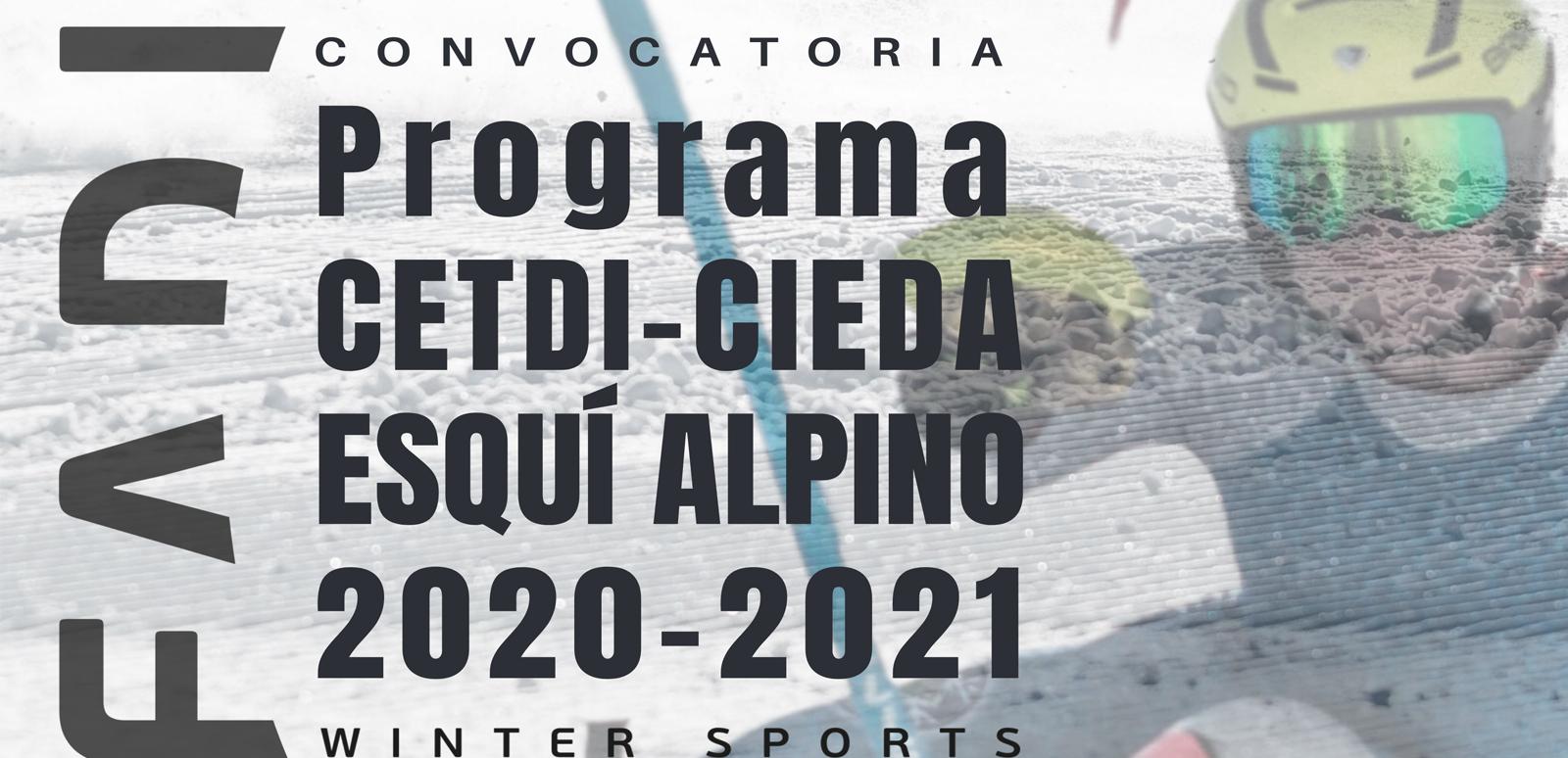 Convocatoria Programa CETDI-CIEDA E. Alpino FADI 2020-2021