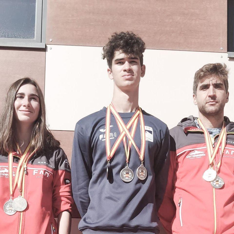 7 medallas andaluzas en el Cto de España Rollerskis