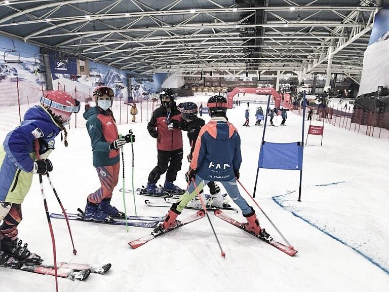 Primera Jornada en la Fase Apertura de la Copa de España U16 de Esquí Alpino @rfedinv en @snowzone_madrid