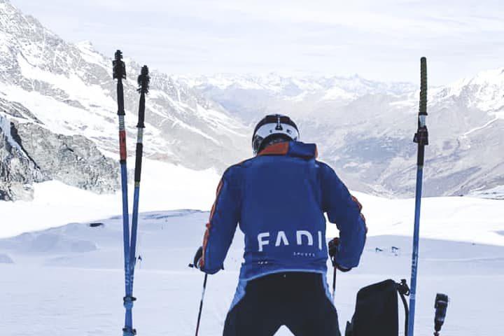 Rafael Díaz Herrera, deportista Andaluz que entrena con Integral Ski. Tras concentración en Saas Fee, Suiza, afronta las primeras competiciones FIS.