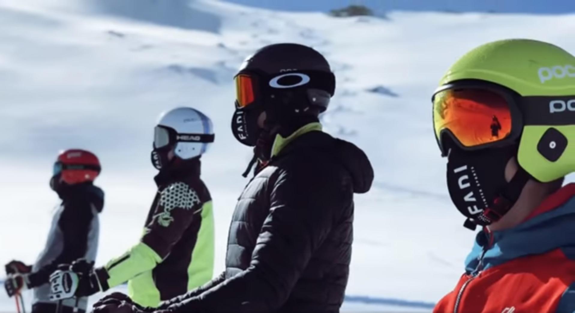 El grupo CETDI Freeski de Skicross se concentra en Sierra Nevada