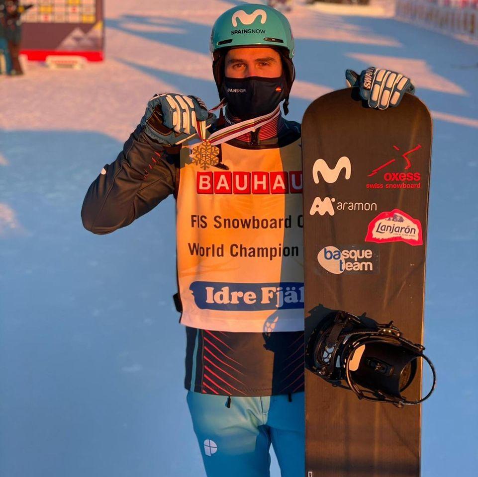 Lucas Eguibar Campeon del Mundo SBX 2021