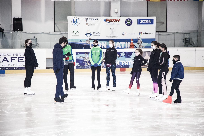 Javier Fernandez trae a Granada una jornada de Tecnificación en patinaje Artístico