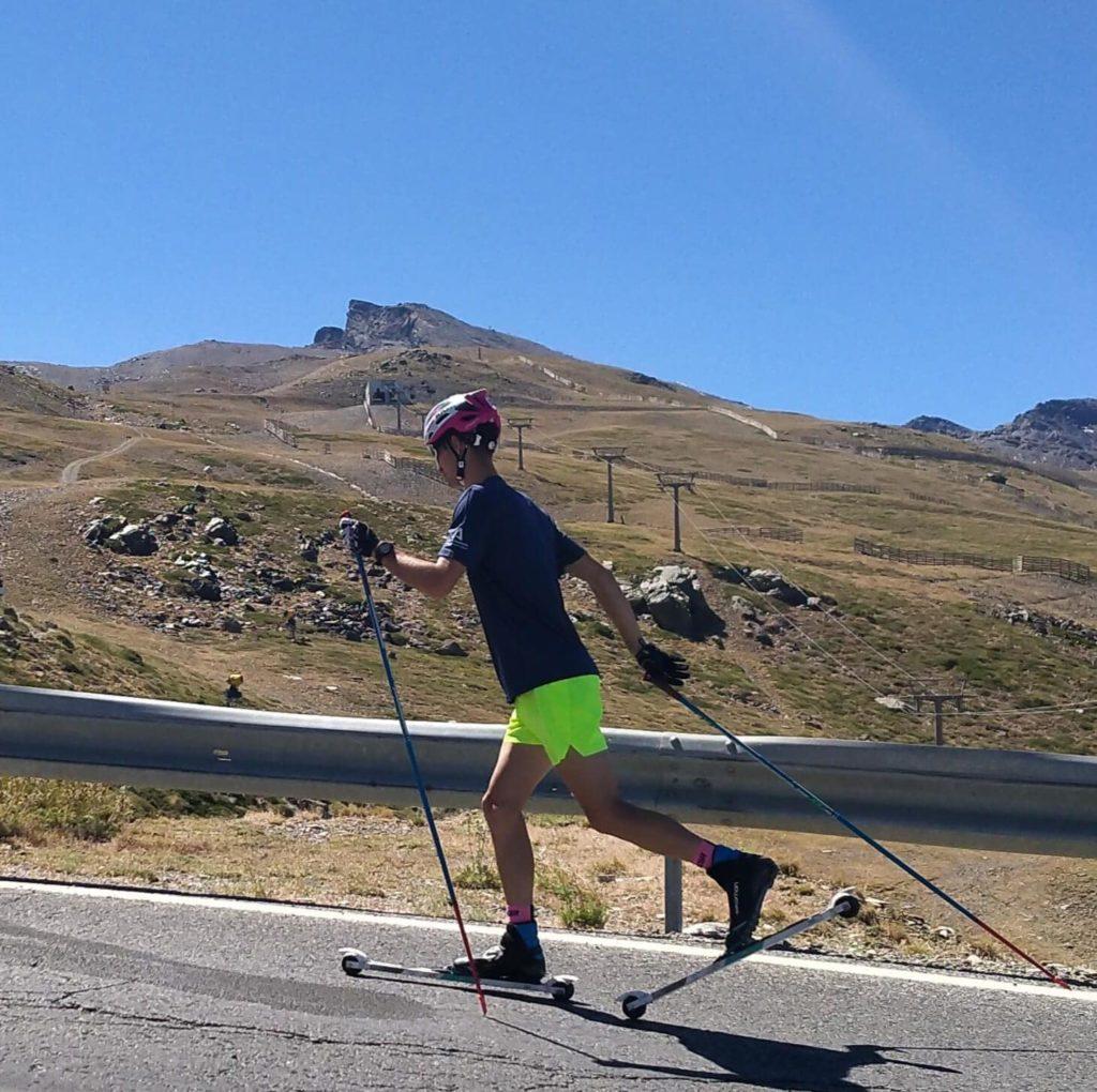 Martín Morales Sánchez entrena estos días en Granada y Sierra Nevada