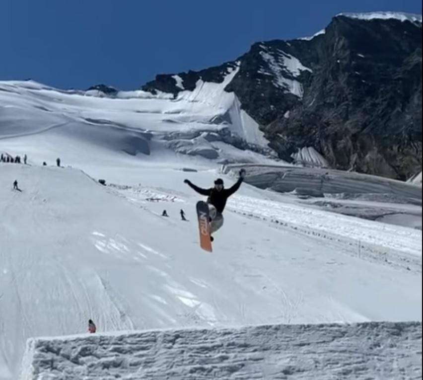 Josito Aragón continúa con su pretemporada, en esta ocasión en SaaS Fee, Suiza.